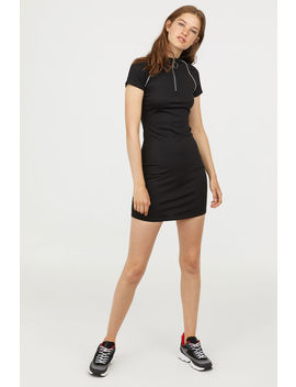 Jersey Dress With A Zip by H&M