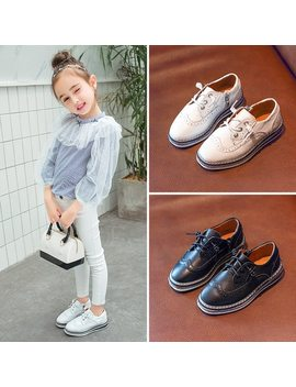 A Adct Leather Boys Shoes 2018 New Casual Children Shoes Genuine Leather Girls Shoes Spring Autumn All Match Brand High Quality   by A Adct
