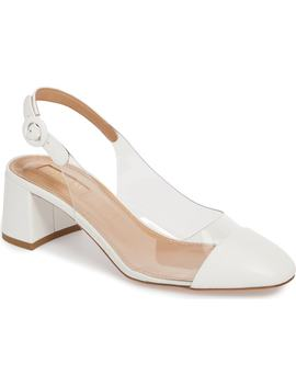 optic-clear-slingback-pump by aquazzura
