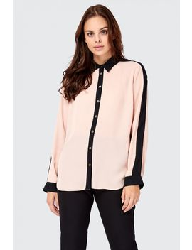 Colour Block Long Sleeve Shirt by Select