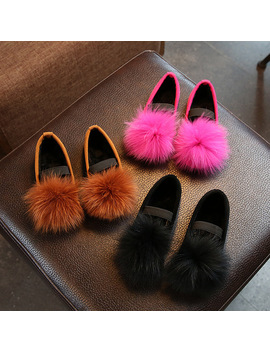 2017 Girls Shoes Fall New Medium And Large Children Fur Fur Shoes Soft Shoes Casual Shoes by Ali Express