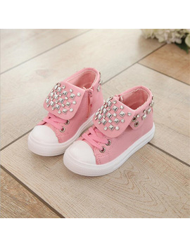 A Spring Autumn New Girls Princess Sports Shoes 2017 Fashion Diamond  Children Casual Shoes Girls Students Flat Shoes by Qgxsshi