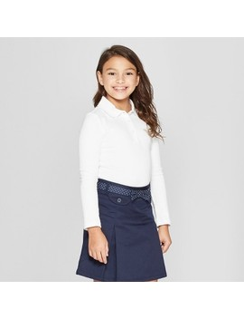 French Toast Girls' Long Sleeve Interlock Uniform Polo Shirt by Shop All French Toast