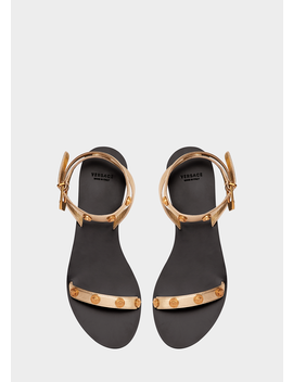 Medusa Stud Tribute Leather Sandals by Versace
