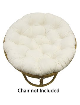 Cotton Craft Papasan Ivory   Overstuffed Chair Cushion, Sink Into Our Thick Comfortable Oversized Papasan, Pure 100 Percents Cotton Duck Fabric, Fits Standard 45 Inch Round Chair   Chair Not Included by Cotton Craft
