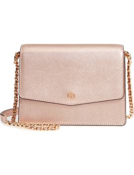 Robinson Convertible Metallic Leather Shoulder Bag by Tory Burch