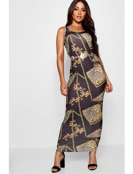 Leopard + Chain Print Maxi Dress by Boohoo