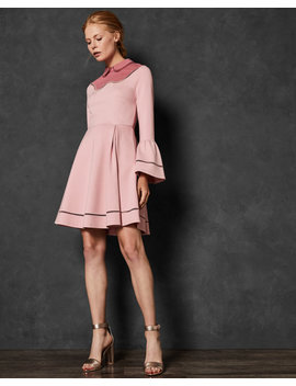 Ladder Lace Skater Dress by Ted Baker