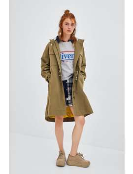 Hooded Oversized Trench  View All Coats Woman by Zara