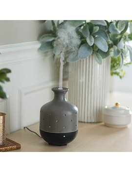 Airomé By Candle Warmers Large Ultrasonic Essential Oil Diffuser, Gray Stone by Candle Warmers Etc.