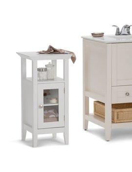 "Simpli Home Acadian Floor Storage 14.97"" W X 30.04"" H Cabinet & Reviews by Simpli Home"