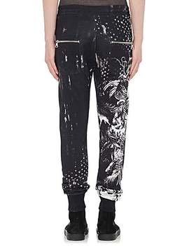 Horse Print Cotton Jogger Pants by Balmain