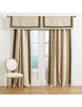 Signature Velvet Trim Linen Panel by Ballard Designs
