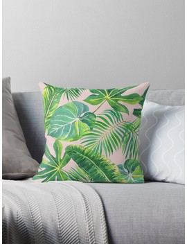 Blush Pink Tropical Ferns by Peggieprints