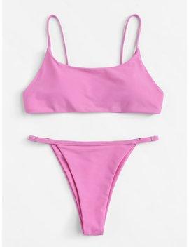 Adjustable Strap Bikini Set by Romwe