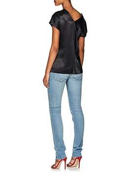 Satin V Neck Top by Helmut Lang