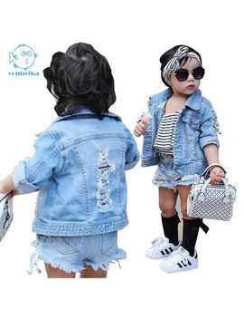 Toddler Boys Jean Jackets Denim For Boy Girls Coats Kids Girl Jackets Coat Casual Baby Girl Denim Jackets Children Holes Clothes by You Bei Ka
