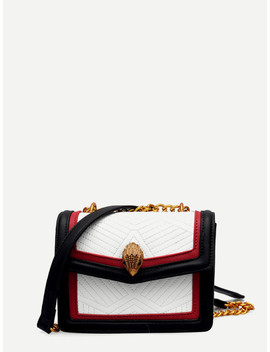 Contrast Trim Flap Bag by Sheinside