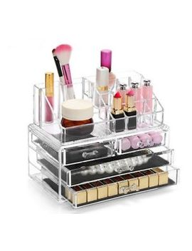 Acrylic Cosmetic Organiser With Drawers Clear Makeup Jewelry Display Box Case by Ebay Seller