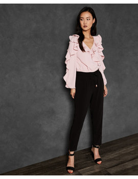 Contrast Ruffle Jumpsuit by Ted Baker