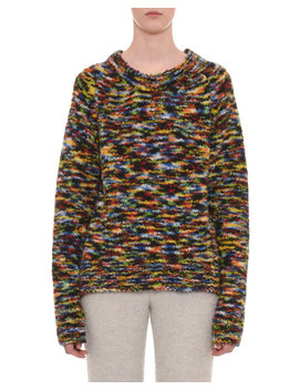 Crewneck Long Sleeve Wool Blend Sweater by Missoni