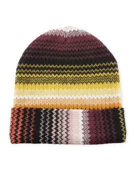Zigzag Wool Blend Beanie Hat by Missoni Accessories