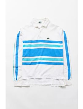 Vintage Lacoste Striped Rugby Shirt by Urban Renewal