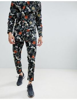 Boohoo Man Smart Pants In Floral Print by Boohoo Man