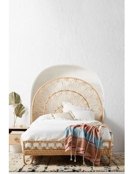 Looping Rattan Bed by Anthropologie