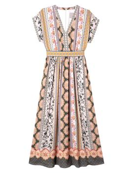Liza Print Charmeuse Dress by Gal Meets Glam Collection