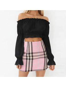 Pink Grid Skirt by Dog Dog