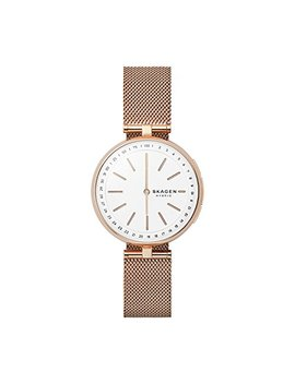 Skagen Connected Women's Signatur T Bar Stainless Steel Mesh Hybrid Smartwatch, Color: Rose Gold Tone (Model: Skt1404) by Skagen Connected