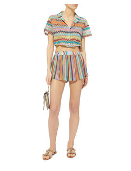 Collared Crop Top by Missoni Mare