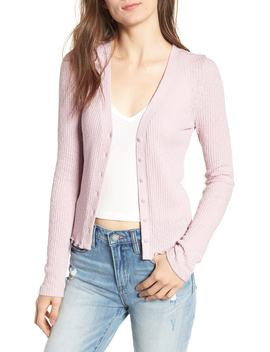 Slim Long Sleeve Button Cardigan by Bp.