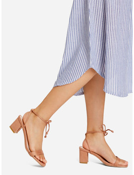 Bow Front Strappy Heeled Sandals by Sheinside