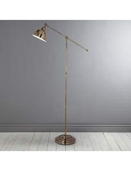 Antique Brass Lever Arm Floor Lamp by Dunelm