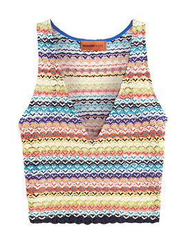 V Neck Knit Top by Missoni Mare