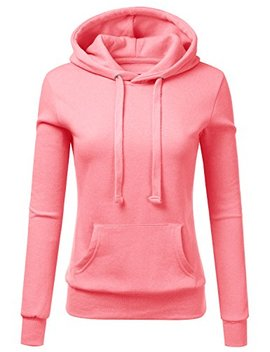 Doublju Basic Lightweight Pullover Hoodie Sweatshirt For Women by Doublju