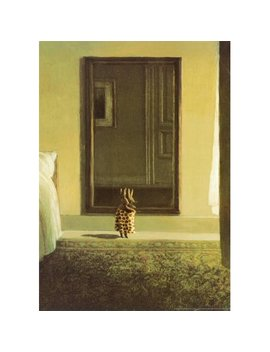 Bunny Dressing Art Print By Michael Sowa   20x27.5 by Image Connection