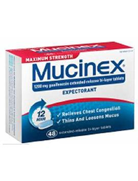 Mucinex Max Strength Tablets, 48 Count by Mucinex