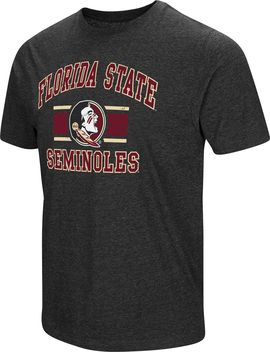 Colosseum Men's Florida State Seminoles Grey Tri Blend T Shirt by Colosseum