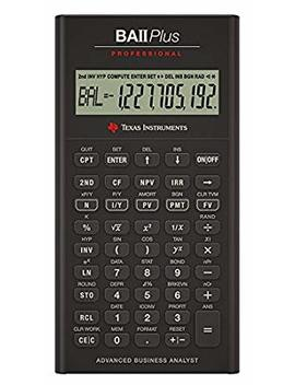 Texas Instruments Ba Ii Plus Professional Financial Calculator by Texas Instruments