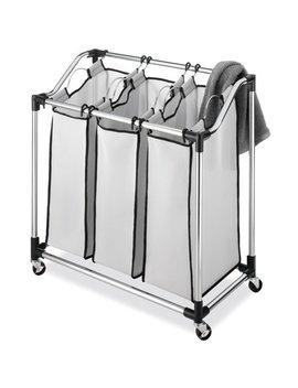 Whitmor Chrome Laundry Sorter With Foam Mesh Bags by Whitmor