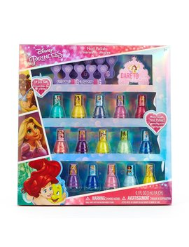Townley Girl Disney Princess Peel Off Nail Polish Gift Set For Kids, 18 Count by Townley Girl