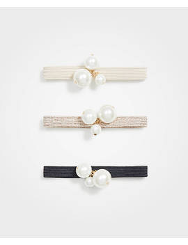 Pearlized Hair Tie Set by Ann Taylor
