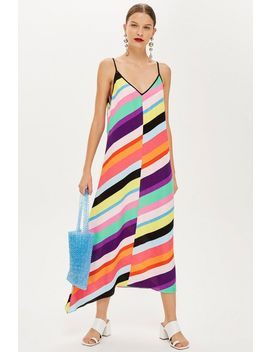 Contrast Stripe Slip Dress by Topshop
