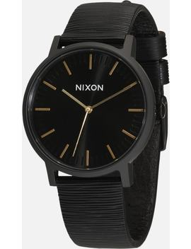 Armbanduhr 'porter Leather' by Nixon