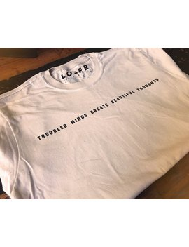 Troubled Minds T Shirt   Limited Edition by The Loser Kid Fan Club