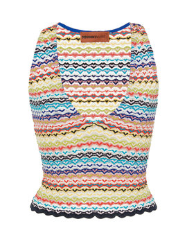 Cropped Crochet Knit Top by Missoni Mare