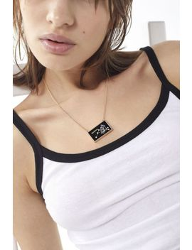 Zodiac Glass Pendant Necklace by Urban Outfitters